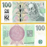 Czech Republic 100 Korun p-new 2018 / 2019 Commemorative UNC Banknote
