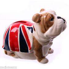 Decorative British Bulldog Union Jack Ceramic Money Box Home Novelty Gift LON21