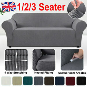 Sofa Covers Elastic Stretch Settee Slipcover Soft Protector Couch 1/2/3Seater