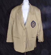 NEW NWT Kathryn Deene Lane Bryant Beige Khaki Blazer Size 22 Cotton $120 Women's