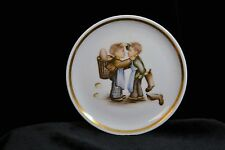 """Collectible Plate 4"""" Mini Hummel Collector Plate Mother's Helpers boys"""