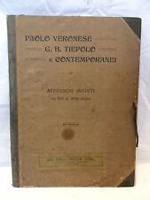 AFFRESCHI INEDITI Veronese Tiepolo XVI XVIII Secolo 40 Tavole Disegni Libro