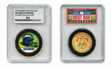 SAN DIEGO CHARGERS NFL *GREATEST DAD* JFK 24KT Gold Clad Coin SPECIAL LTD. CASE