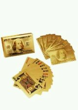 24k gold plated playing cards full poker deck 99.9% pure Christmas gift