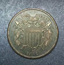 1864 Two Cent Piece, Better Circ. Grade