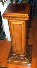 "PEDESTAL / RARE 19 CENTURY ENGLISH MAGNIFICENT HEAVY HAND CARVED STAND H=46"" :"
