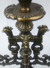 Antique Lancini Brass Italian Marble Neo Classical Candelabra Manora Vtg Rooster