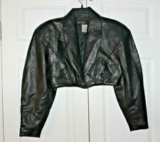 Michael Hoban North Beach Leather Black Jacket - Size 7/8