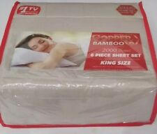 Infused copper x bamboo essence six-piece King sheet set beige