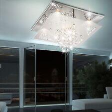 DESIGN Decken Lampe Esszimmer Lüster Glas Kristall Behang Kronleuchter Leuchte