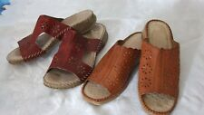 LADIES REIKER LEATHER SANDALS, AND 1 X OTHER SIZE 6.
