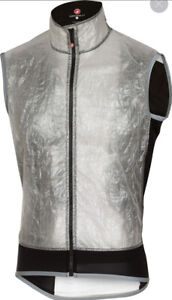 BRAND NEW Castelli Vela Vest Mens Cycling 199$ MSRP Wind / WaterProof 65g Large