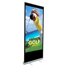 Retractable Standard Roll Up Banner Stand Trade Show Pop Up Display + FREE Print