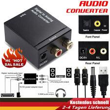 3,5-mm-Digital-Analog-Audiokonverter-Adapter mit Glasfaserkabel RCA Out Optical