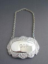 Decanter Label GIN Flaschenanhänger versilbert