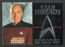 STAR TREK NEXT GENERATION PROFILES (Skybox) STAR THREADS Card PICARD #0672 Black