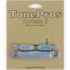 NEW TonePros T1ZS-C Standard Locking Stop Tailpiece Bridge for Guitar - CHROME