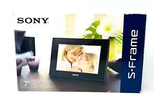 Sony S-Frame LED Backlight Digital Picture Frame Black With Memory Card