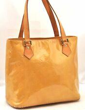 Authentic Louis Vuitton Vernis Houston Shoulder Bag Yellow LV A2566