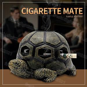 Retro Ashtray Cigar Gadgets Turtle Ashtray Craft Decor Outdoor Desktop Home Pub