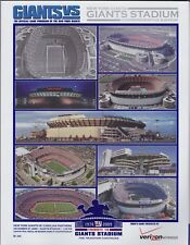 New York Giants Final Game Program At Giants Stadium 2009 Rare Eli Manning