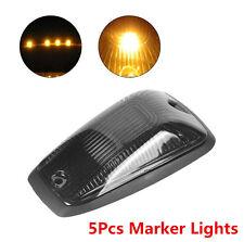 5pcs Car SUV Smoke Lens Cab Roof Top Marker Running Lights Cover & Lamp-socket