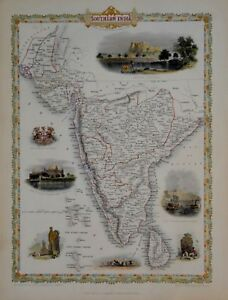 SOUTHERN INDIA BY JOHN TALLIS 1850.