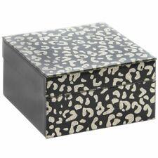 Wildside Animal Print Black and Gold Glitter Jewellery Box