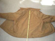 Carhartt Men's  Brown Duck Canvas Quilt Lined Jacket USA Coat Construction Wear