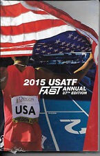 2015 Official USATF FAST TRACK & FIELD Record BOOK New Statistics Guide Annual