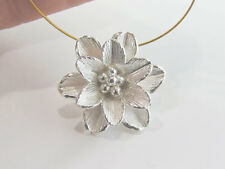 Karen Hill Tribe Silver Flower Pendant 18mm.