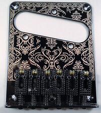 New Bridge Telecaster Black - Fun -single Coil - Saddles Roller - Guitar Tele