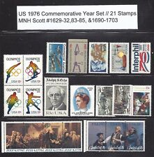 US 1976 Commemorative Year Set with 21 Stamps MNH