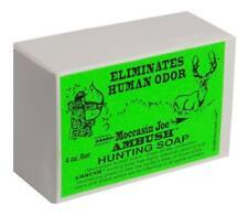Moccasin Joe Ambush Human Odor Eliminating Hunting Bar Soap 4 Ounce NEW