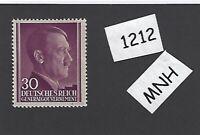 #1212     MNH 1941 stamp 30 Gr / Adolph Hitler /  Occupied Poland / Third Reich