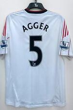 Liverpool Away Camicia 2010 2011 Manica Corta Grande Nuova con etichetta 5 Agger LEXTRA