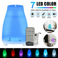 LED Essential Oil Diffuser Humidifier Aromatherapy Ultrasonic Mist With Remote
