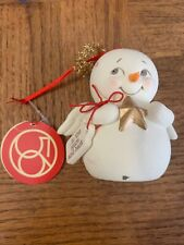 Snowman Angel Christmas Ornament