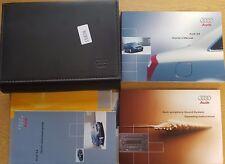 GENUINE AUDI A4 B6  HANDBOOK OWNERS MANUAL WALLET 2000-2004 PACK 15878 !