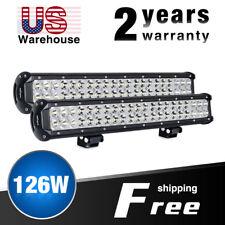 Nilight 2PCS 20Inch 126W LED Work Light Bar Spot Flood Combo Off Road Lights 12V
