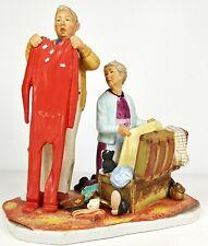 New ListingNorman Rockwell Figurine Tender Years Fall Chilly Reception Nr 1957-F Mib