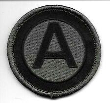 "2 1/4"" ACU Grey Gray Black 3rd Army Sew On Patch"