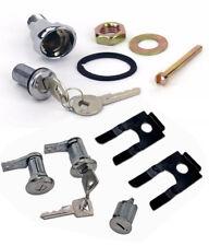 NEW 1964-1966 Ford Mustang Lock set doors & Ignition & Trunk Keys Clips Bezel