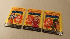 1989 Topps Nintendo Game Pack Wax Pack Trading cards Full Set of 3 packs