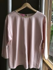 Gorgeous BASLER Peach Pink Long Sleeve Top Blouse Sz 36 S EUC