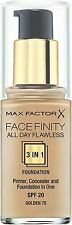 Max Factor All Day Flawless 3 in 1 Foundation 30ml 75 Golden SPF 20