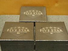 2013 TOPPS 5 FIVE STAR FOOTBALL 3 BOX CASE