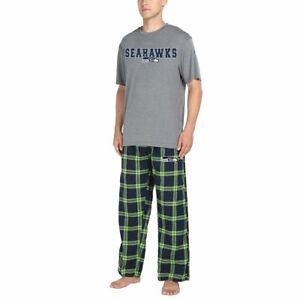 Seattle Seahawks NFL Men's Pajama Sleep Lounge Shirt/Pants Set