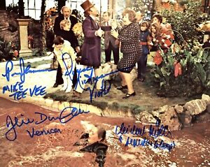 Willy Wonka movie photo signed by FOUR of the children!