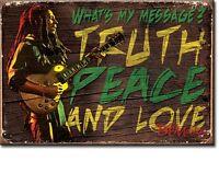 Bob Marley Truth Peace Liebe Stahl Kühlschrank Magnet (De)